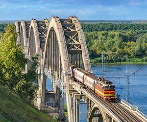 Linienzug der Transsibirischen Eisenbahn